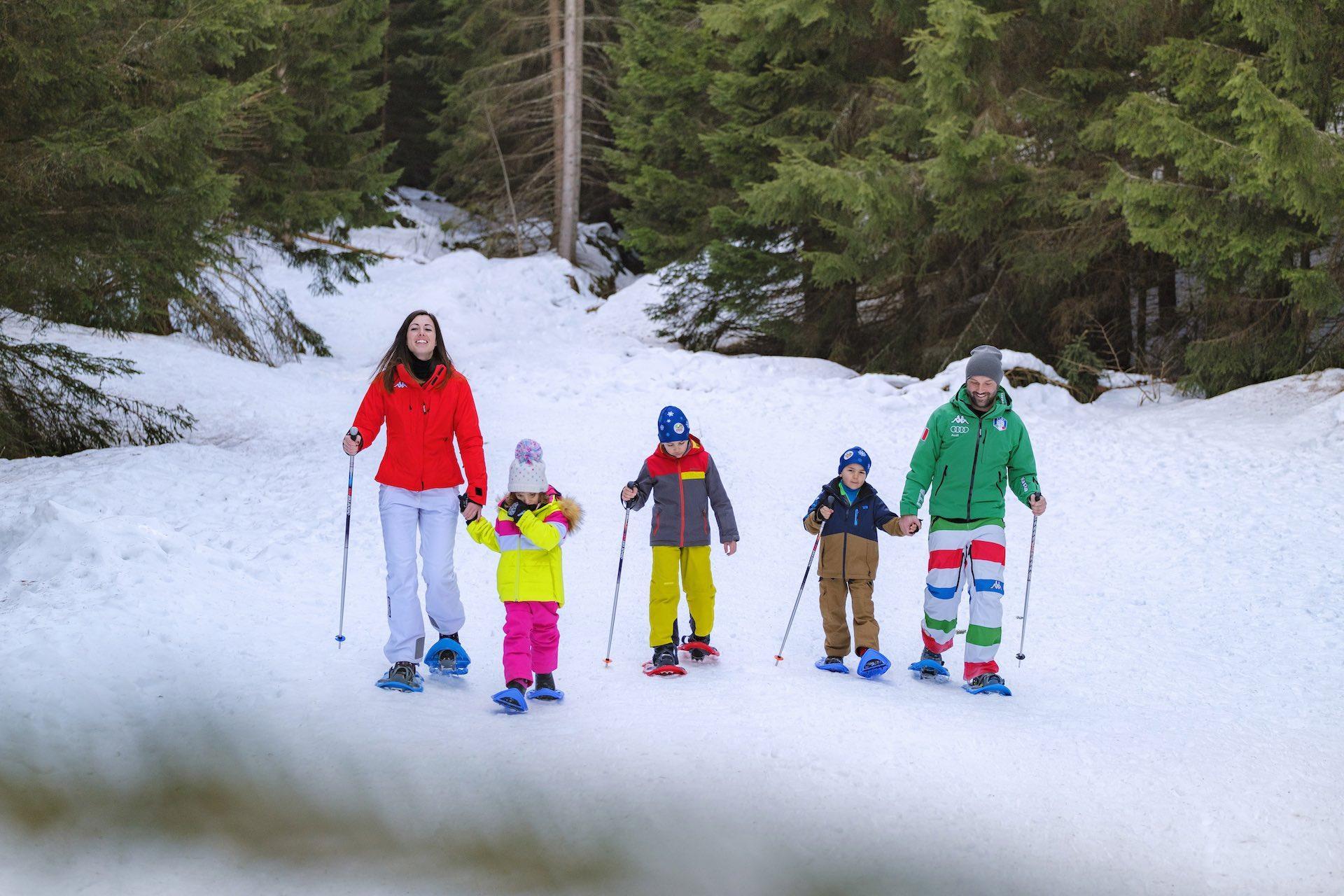 Andalo Vacanze - ciaspole sulle Dolomiti Paganella in Trentino, cosa fare a Andalo d'inverno