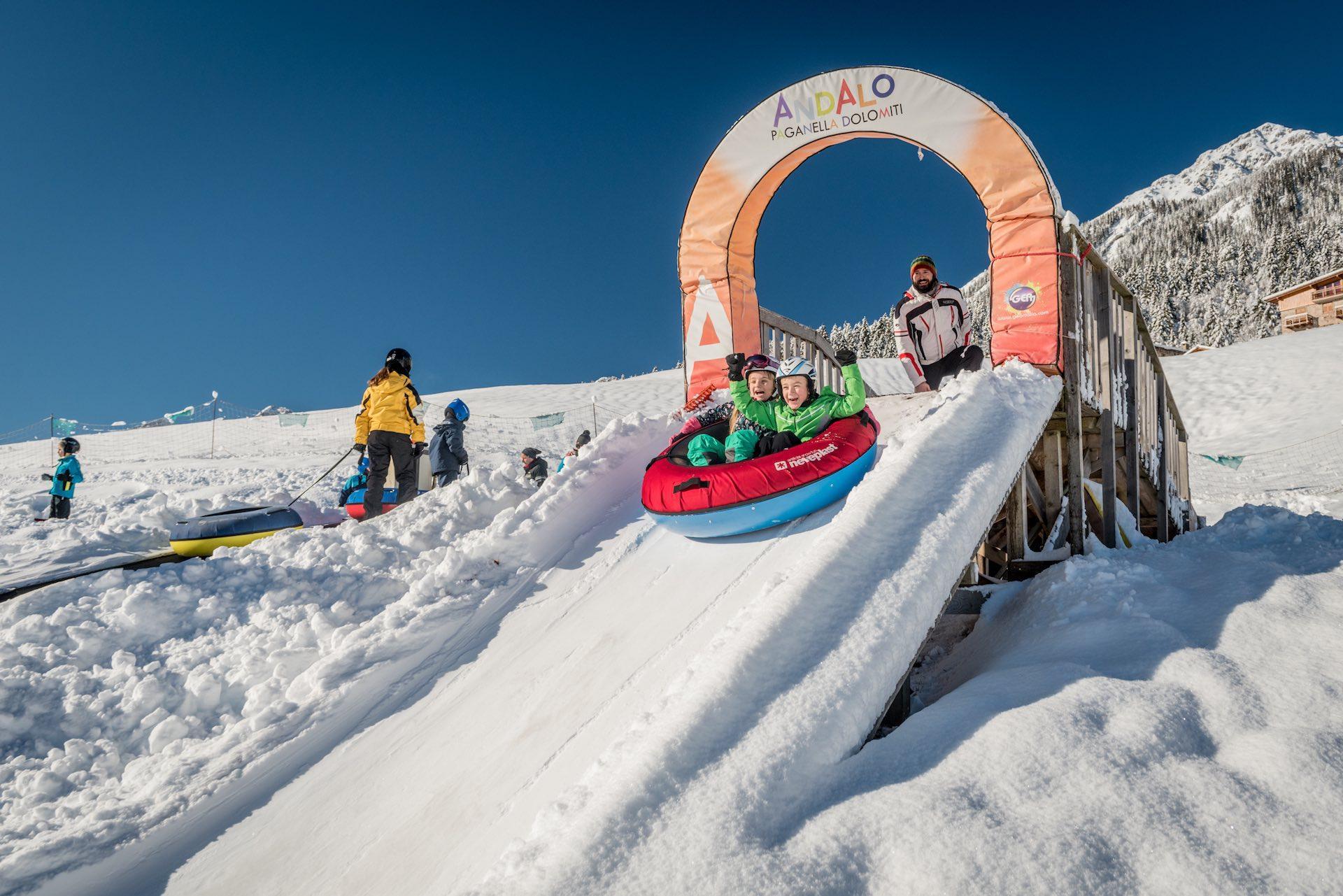 Life Park per vacanze in famiglia invernali in Trentino sulle Dolomiti Paganella